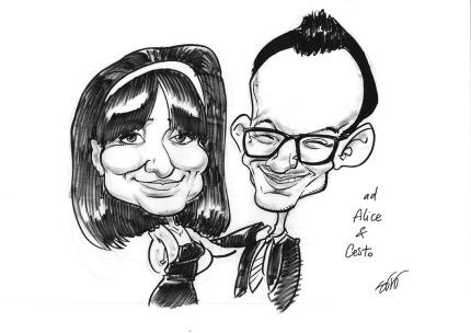 Andrea Sbrogiò caricaturista