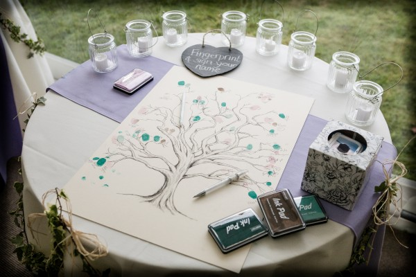 Fingerprint Guestbook - foto via theweddingdolls.co.uk