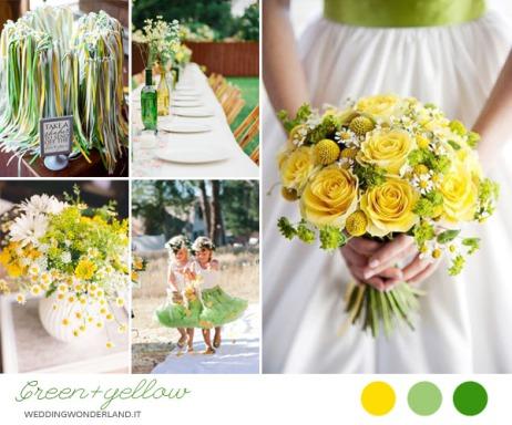 Giallo e verde - foto via weddingwonderland.it