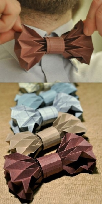 Origami Wedding - foto via theweddingpaper.wordpress.com