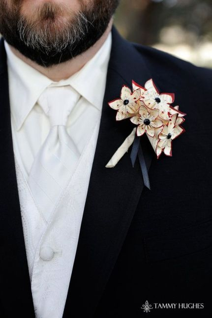 Origami Wedding - foto via weddingluxury.it