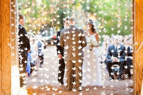 Origami Wedding - foto via weddingomania.com
