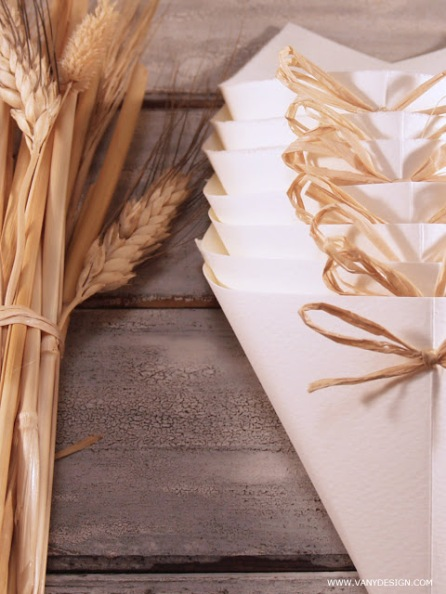 Coni porta riso - foto via www.vanydesign.com