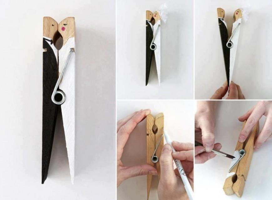Mollette personalizzate - foto via www.weddbook.com
