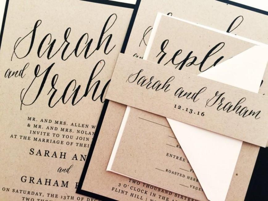 Calligrafia e wedding - foto via www.olalla.it