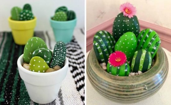 Cactus di sassi - foto via livinglightlyinireland.wordpress.com
