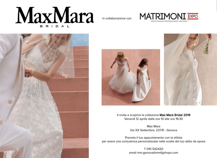 Matrimoniexpo - foto via www.matrimoniexpo.it/max-mara-bridal/